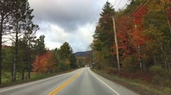 New England foliage driving with car Stock Footage