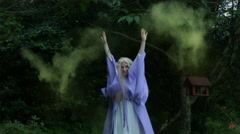 4k Fantasy Shot of a Fairy Throwing Pixie Dust Stock Footage