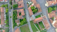 Overhead view of Miracles Square in Pisa, Tuscany – Italy Stock Footage