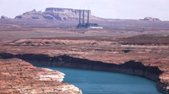 4K UHD Lake Powell area Salt River Project-Navajo Generating Station medium 2 Stock Footage