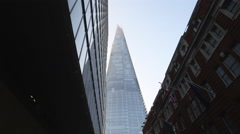 Move onto Glass Shard London Stock Footage