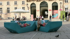 The Museum Quarter in Vienna Stock Footage