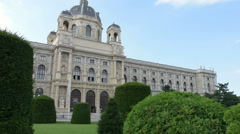 The Natural History Museum in Vienna Stock Footage