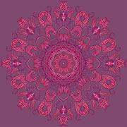 Vector Ornamental round lace pattern, circle background Stock Illustration