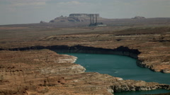 4K UHD Lake Powell area Salt River Project-Navajo Generating Station wide Stock Footage