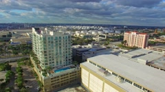 Fort Lauderdale panorama aerial view Stock Footage