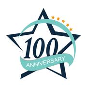 Template Logo 100 Anniversary Vector Illustration Stock Illustration