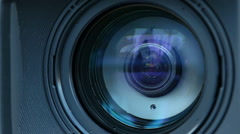 The movement of the lens on a professional camera Stock Footage
