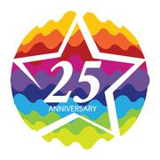 Template Logo 25 Anniversary Vector Illustration Stock Illustration