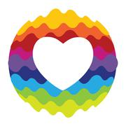 Love, Heart Rainbow Color Icon for Mobile Applications and Web V Stock Illustration