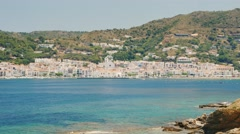 Coastline popular Mediterranean resort in Spain near the town of Cadaques Stock Footage