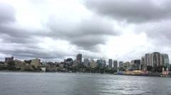 Kirribilli panoramic view, Sydney Stock Footage