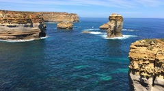 Great Ocean Road razorback point of view, Victoria, Australia Stock Footage