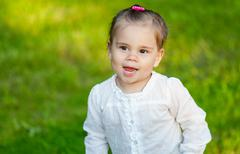 Little smiling child girl Stock Photos