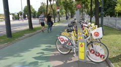 Bike sharing in Vienna Stock Footage