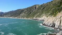 Coastline of Cinque Terre. Five Lands, Liguria, Italy Stock Footage