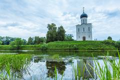 Church of the Intercession on the Nerl (1165) - stock photo