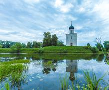 Church of the Intercession on the Nerl (1165) Stock Photos