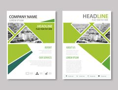 Annual report brochure flyer design template vector, Leaflet cover presentati Stock Illustration
