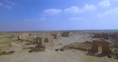 Archaeological site of ancient buildings Stock Footage