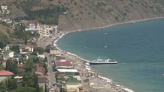 Village on the south-eastern coast of Crimea Stock Footage