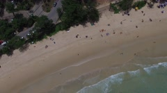 Good-looking asian seashore & palm trees, from a radio-controlled aircraft Stock Footage
