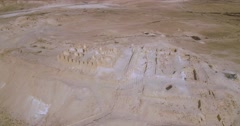 Archaeological site in Israel from air Stock Footage