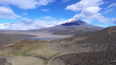 Clouds over Cotopaxi Volcano Stock Footage