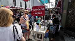 London, Portobello Market.. Stock Footage