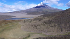 Cotopaxi in the Distance Stock Footage