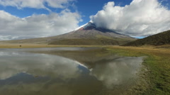 Cotopaxi Reflection Stock Footage