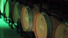 Racks of Wine Barrels Stock Footage