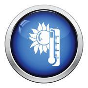 Summer heat icon Stock Illustration