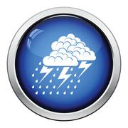 Thunderstorm icon Stock Illustration