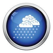 Snowfall icon Stock Illustration