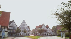 Houses of small German town Lemgo. Stock Footage