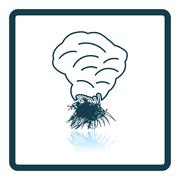 Sesonal grass burning icon Stock Illustration
