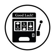 One-armed bandit icon Stock Illustration