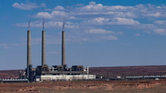 Salt River Project-Navajo Generating Station time lapse medium Stock Footage