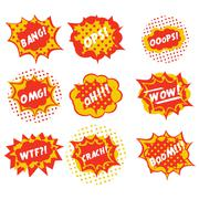 Sound effects are comic style pop art vector Stock Illustration