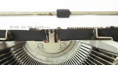 Typewriter back in my days Stock Footage