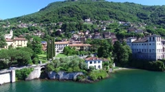 Gallio Palace - Village of Gravedona, Como lake in Italy Stock Footage