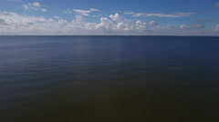 Inland Bay water and sky clouds Stock Footage