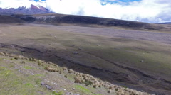 Over the Pucara Salitre Incan Ruins in Cotopaxi National Park Stock Footage