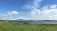 4K UltraHD View at Harray Loch, Orkney Stock Footage