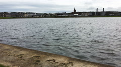 4K UltraHD View of Kirkwall harbor, Orkney, Scotland Stock Footage