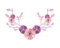 delicate flower icon - stock illustration
