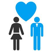 Love Persons Flat Vector Icon - stock illustration