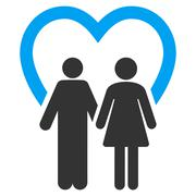 Marriage Flat Vector Icon Stock Illustration