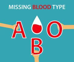 Missing Blood Type Stock Illustration